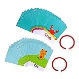 Tomaibaby 2 Sets Alfabet en Nummer Flash Kaarten Letters Lichaamsdelen Fruit Leren Speelgoed Educatief Montessori Speelgoed Voor Peuters Kinderen Stijl 3
