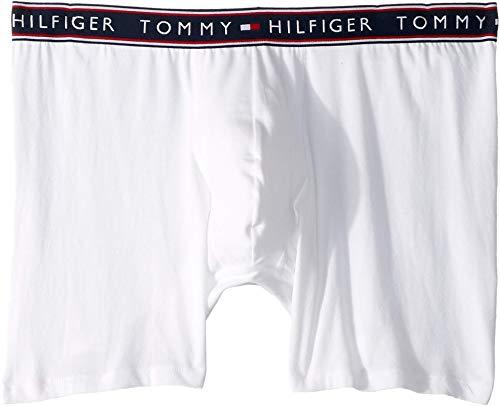 Tommy Hilfiger Herren Cotton Stretch Boxer Brief Slip, weiß, Medium (Cotton Tommy Spandex Hilfiger)