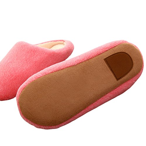 Zhuhaixmy Anti-Slip Baumwolle slippers Weich Indoor Hausschuhe Flats Home Schuhe Red YgxPB