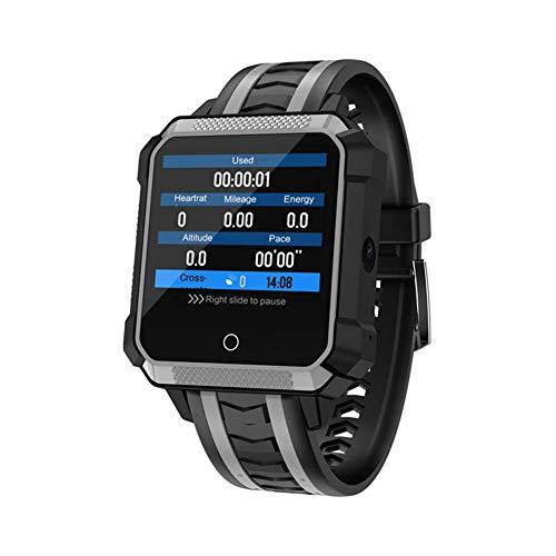 HFJ&YIE&H Smartwatch - 4G LTE Anruf Kamera Uhren 1 GB RAM 8 GB Rom Eingebautes BT4.0 /GEOGRAPHISCHES POSITIONIERUNGS System/Herzfrequenz-Messgerät/Fitness-Tracking,B