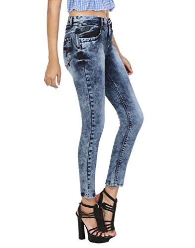 Gnine Cotton Denim _Colour _ Blue Slim Fit Designer _Party Wear _Ankle Length Jeans for Women