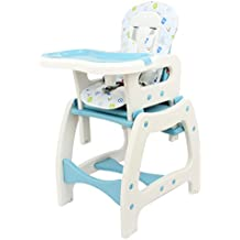 3en 1Chaise haute bébé Chaise haute pour bébé Infant Care convertible Siège enfant Bleu