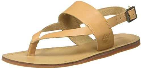 Timberland Damen Carolista Ankle Thongdoe Knöchelriemchen, Beige (Doe Dry Gulch), 39 EU