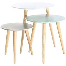 Amazonfr Table Basse Gigogne Bleu
