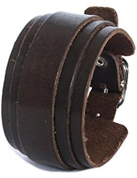 SIMARU Lederarmband Herren breit, Herren Armband aus hochwertigem Leder (pflanzliche Gerbung), Männer Armband...