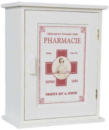 Clayre & Eef 6H0372 Arzneikasten Wandschrank 24 * 13 * 30 cm (Wand Hing-badezimmer-schränke)