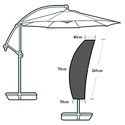 OMORC Sonnenschirm Abdeckung, Schirmhülle Sonnenschirm 210D Nylon Sonnenschirm schutzhülle Outdoor Regenschirm Abdeckung Wasserdichtes mit Klettverschluss von OMORC bei Gartenmöbel von Du und Dein Garten