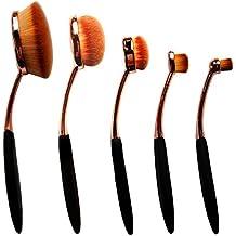 Dreamland 5 x Sets de brochas suave maquillaje sistemas de cepillo del maquillaje de la fundación Cepillos Crema Contorno Powder Blush Pincel Corrector cosméticos Conjunto de Herramientas