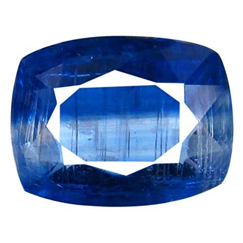 Deluxe gems - pietra preziosa in cianite non riscaldata e non trattata, 1,53 ct aa+, 8 x 6 mm, colore: blu