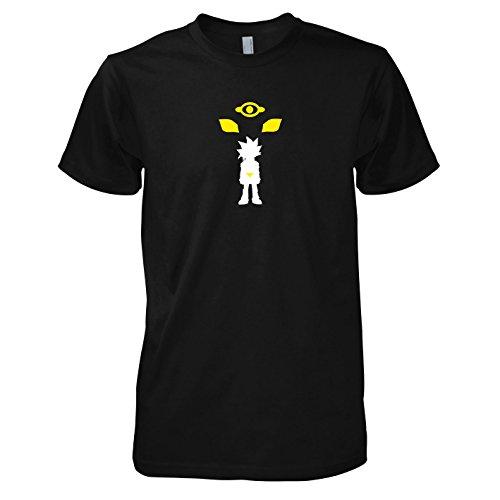 Texlab - Yugi - Herren T-Shirt, Größe S, schwarz (Yu Gi Oh Kostüm)
