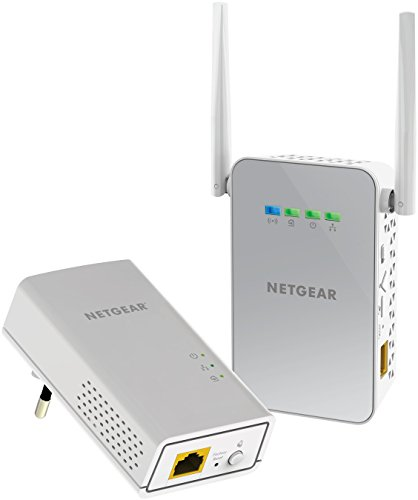 Netgear PLW1000-100PES Adattatori Powerline AV1000, Wireless AC Dual Band, 2...