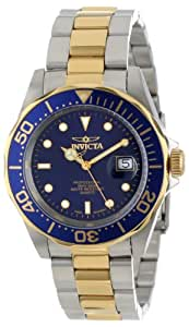 Invicta Men's Quartz Watch with Blue Dial Analogue Display and Two-Tone Stainless Steel Bracelet 9310
