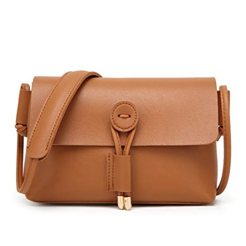 Damen Umhängetasche aus weichem PU-Material Trendy Freizeit College-Stil Multifunktions-Design mit großer Kapazität Brown -