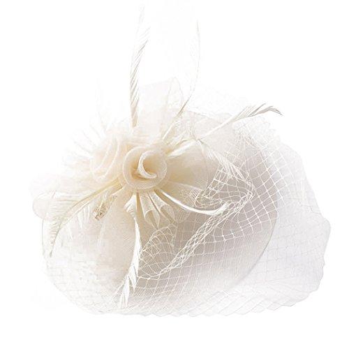 Hochzeitshut, Zoylink Braut Hut Feder Sinamay Cocktail Fascinator Hut Blumen Design Und Net FüR Hochzeit