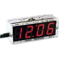 KKmoon 51 Microcomputadora de un solo chip Control de luz LED Pantalla digital Kit de fabricación de reloj electrónico Accesorios de fabricación DIY