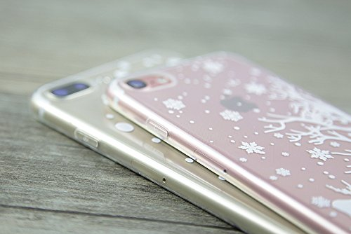 Coque iPhone 6,Coque iPhone 6S,Étui iPhone 6,Étui iPhone 6S,ikasus® Coque iPhone 6S / 6 Silicone Étui Housse Téléphone Couverture TPU avec Cerf de flocon de neige de Noël blanc Christmas Snowflake mot Cerfblancflocon deneige