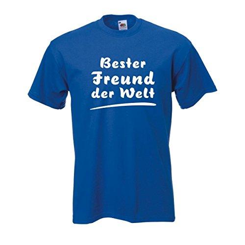 Bester Freund der Welt bedrucktes T-Shirt ideales Geschenk für gute Freunde zum Geburtstag oder besonderen Anlaß große Größen S-5XL (FAF005) Mehrfarbig