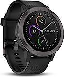 Garmin Vivoactive 3 - Smartwatch con GPS y pulso en la muñeca, Negro (Gunmetal), M/L