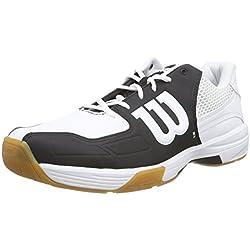 Wilson Recon Black, Zapatillas de tenis, Unisex adultos, Negro / Blanco, 38 1/2 EU
