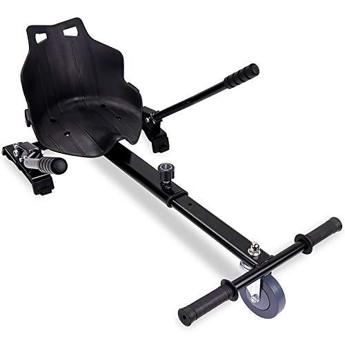 Hoverkart für Hoverboard, Go-Kart-Zubehör für selbstausgleichende Roller, einstellbare Länge, kompatibel mit Allen Hoverboards - 6,5/8 / 8,5/10 Zoll für Erwachsene und Kinder (Black)