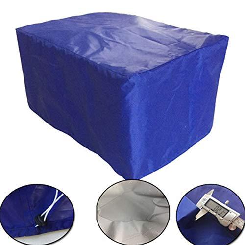 XUEYAN Oxford Tuch gartenmöbel im freien Wasserdichte staubschutz gartentisch und Stuhl Sonnenschutz Maschine Abdeckung (Farbe : Blau, größe : 123X123X74CM)