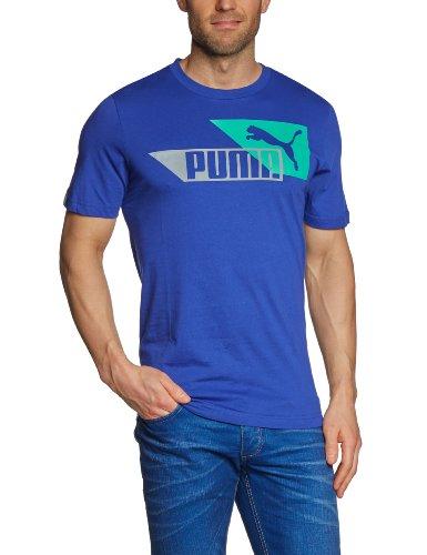 PUMA Herren T-Shirt SportsCasual Graphic clematis blue