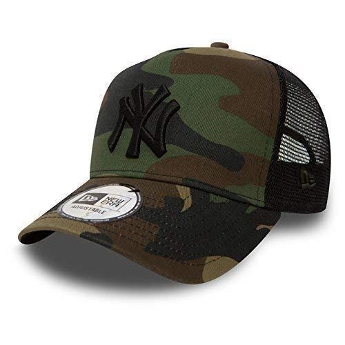 New Era Trucker Mesh Cap im Bundle mit UD Bandana NY Yankees Camo - 2828 (Camo-baseball-cap)