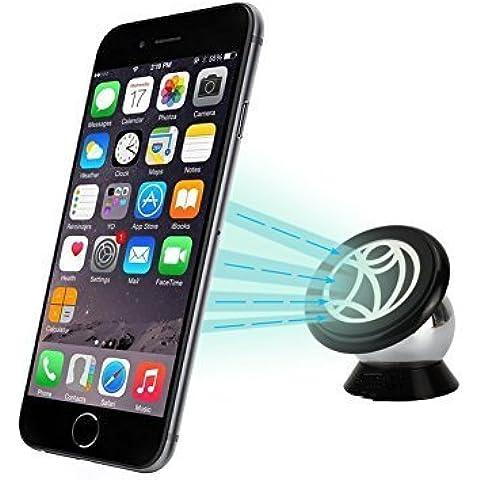 Ukelove Universale Dashboard Parabrezza Supporto, Supporto Magnetico Auto universale, Porta Magnetico Auto, 360 Gradi di Rotazione per iPhone 6s plus/ 6s/ 6 plus/ 6/ 5/ 5s/ 5c, Smartphone Samsung, GPS, MP3 Player, ecc. (CM212)