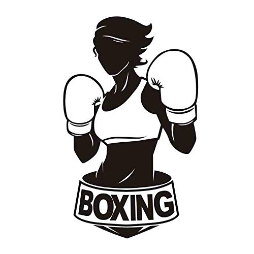 Mujer de boxeo Guante Pegatina Kick Boxer Jugar Calcomanía de Coche Carteles de Combate Libres Vinilo...
