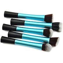 Holzsammlung 5 Pcs Set de Pinceles De Maquillaje Kit de Brochas Cosméticas Profesional - Maquillaje conjunto de cepillos Brocha Sombra Blush Corrector Fundación pinceles cosméticos #8