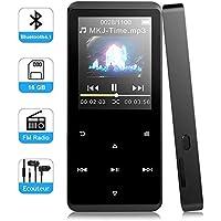 Macrourt 16 Go MP3 Tactile Bluetooth HiFi Lecteur en Métal Ecran en Couleur Baladeur MP3 avec Radio FM/Enregistrement Supporte Carte TF (Carte Non Incluse)