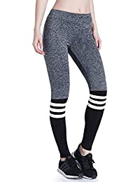 0eb595bb3b59a5 Imbry Damen Postpartal Flexible Sport Leggings Hosen Nahtlose Strumpfhose Gymnastik  Workout Fitness…