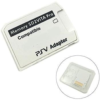 ROKOO Adaptador V5.0 SD2VITA PSVSD Pro Durable para PS Vita 3.60 Tarjeta de Memoria Micro SD SMA