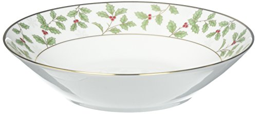 Noritake Holly and Berry Gold Soup Bowl Gold Berry Bowl