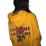 Yesmile Damen Kapuzenpullover Frauen Blumen Kapuzenpulli Sweatshirt mit Kapuze Pullover Hoodie Sweatshirt Pullover Casual Bluse