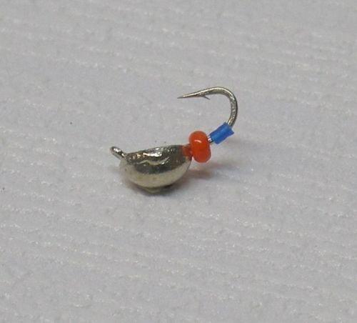 Mormyschka (Silber mit Roter Perle) Eisangeln Eisangelköder