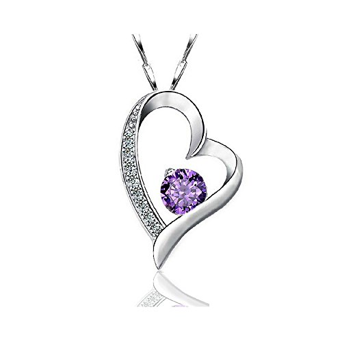 Collar Plata de Ley 925 Cristal Rodeado de Diamante para Mujer by Brav