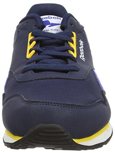 Reebok Royal Sprint, Baskets Basses Homme Bleu (coll Nvy/tm Dk Ryl/rtro Yllw/wht/blk/coll Ryl)