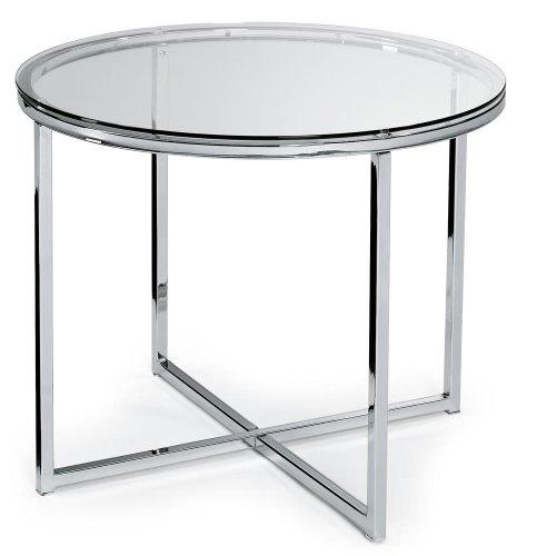 Glastisch XABI rund, Chrom/Glas ESG-Sicherheitsglas