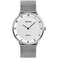 ZYCZ Literarisch Dünne Quarz Männer Uhren Zink-Legierung Geschäft Gelegenheits-Uhren Männer Billige Uhren,Whiteblackneedle