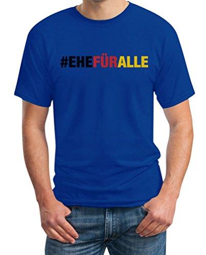#EHEFÜRALLE - Ehe für alle, und zwar jetzt T-Shirt Blau