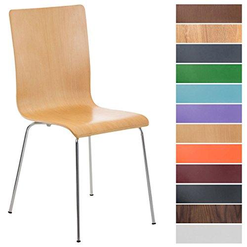 CLP Wartezimmerstuhl PEPE mit ergonomisch geformten Holzsitz und stabilem...
