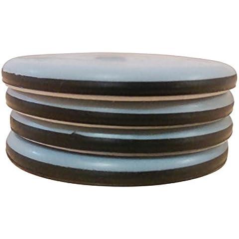 Simply Slide - Dischi sposta-mobili in Teflon, 25 mm, 4 pz, autoadesive, funzionano su legno e pavimenti in moquette per ridurre la frizione, il miglior modo per spostare