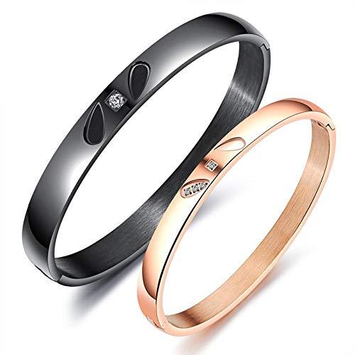 d27bffe50c3f8d DuDuDu Uomo elegante anello minimalista e una mano in acciaio al titanio con  imitazione bracciale strass
