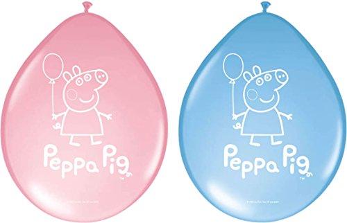 Folat 8 Luftballons * Peppa Pig * für Party und Kindergeburtstag // Geburtst