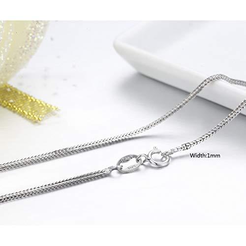 """FyaWTM Halskette Choker 925 Sterling Silber Fuchsschwänze Chopin Kette Halskette Frauen Mädchen 45 cm 18""""Schmuck"""