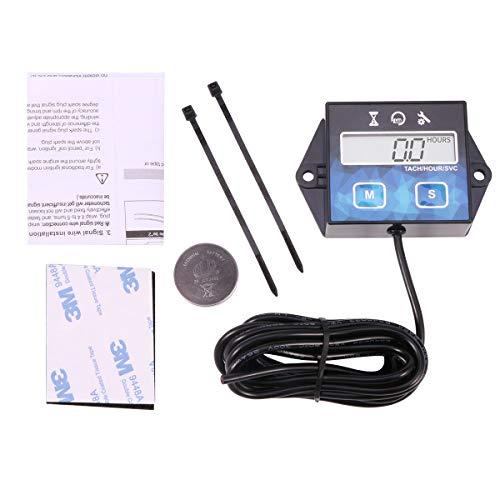 Digital-Tachometer für kleinen 2/4-Takt-Motor, für Boot Generator Rasenmäher Motorrad