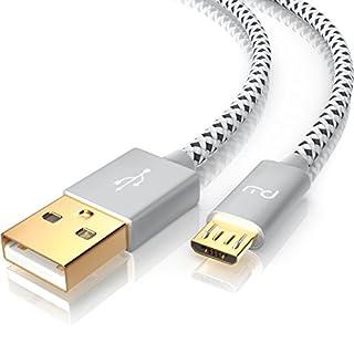 CSL - 5m micro USB Kabel | 2,4A Schnellladekabel | Naylonkabel + Metallstecker | High Speed Ladekabel / Datenkabel für Android Smartphones, Samsung Galaxy, HTC, Huawei, Sony, Nexus, Nokia, Kindle