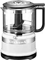 KitchenAid 5KFC3516S, 0,83 L, Bianco, 3450 Giri/min, 0,762 m, Cina, Plastica KitchenAid 5KFC3516S. Capacita' vaschetta: 0,83 L, Colore del prodotto: Bianco, Velocita' di rotazione: 3450 Giri/min. Materiale della scocca: Plastica, Materiale coltelli: ...
