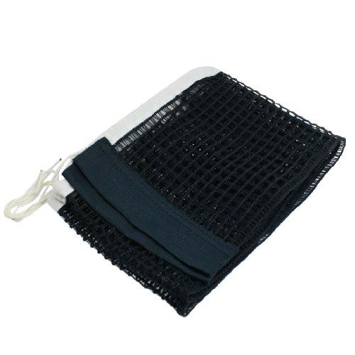 Preisvergleich Produktbild sourcingmap® 1.75M lang Weiß Nylon Ping Pong Netz Tischtennisnetz Ersatznetz schwarz de de